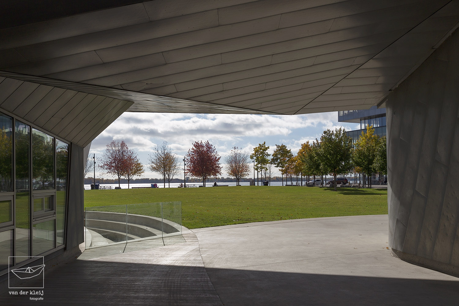 View on the Water's Edge Promenade from Sherbourne Common