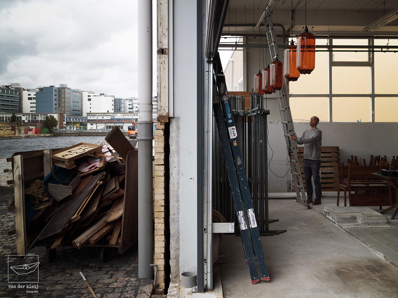 Opbouw I'M BINCK Festival, Saturnuskade, Binckhorst, Den Haag – 4 oktober 2017